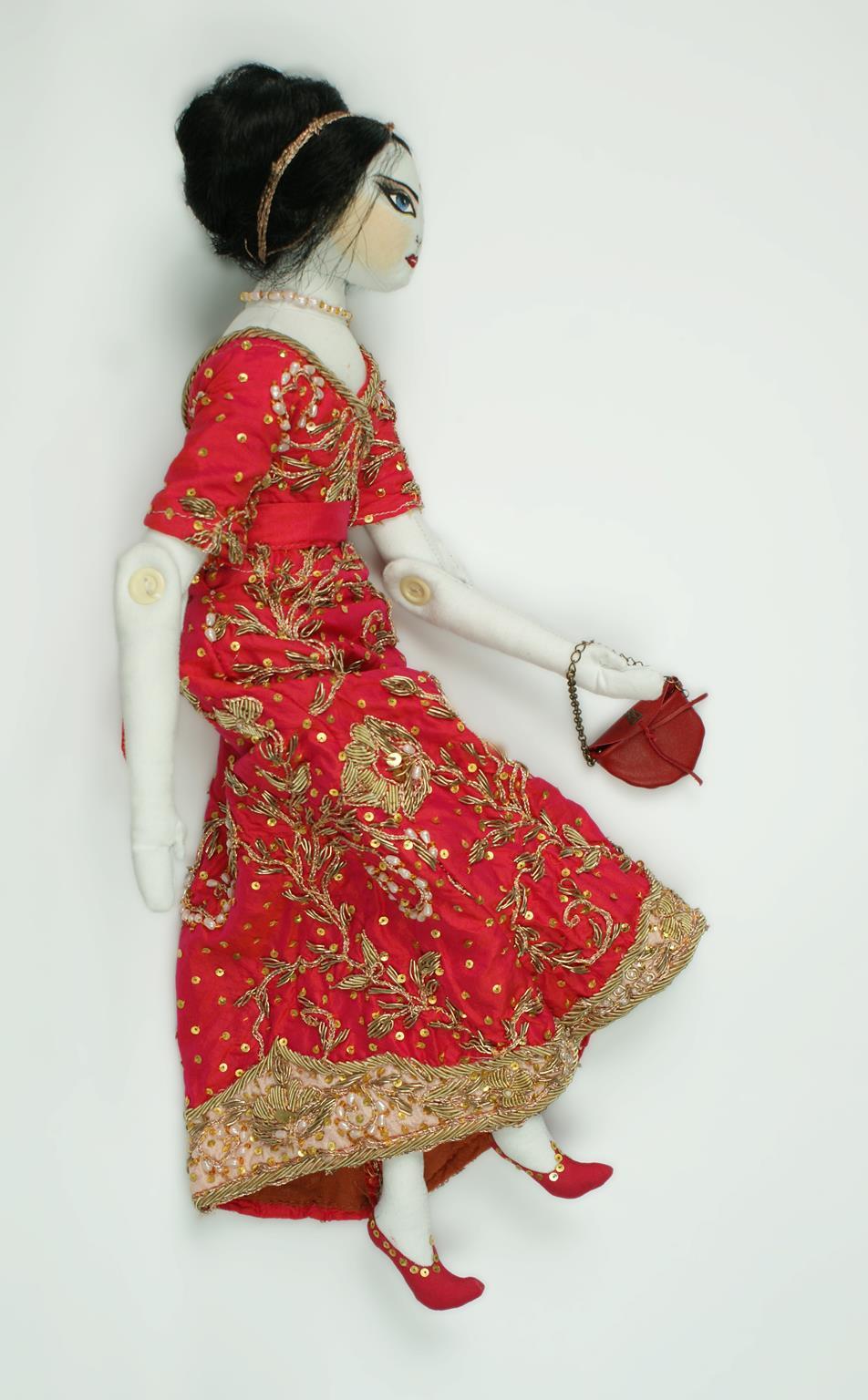 Cloth art doll by Mmsdoll